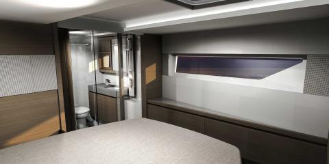 Bedroom and en suite of moorings 534pc catamaran