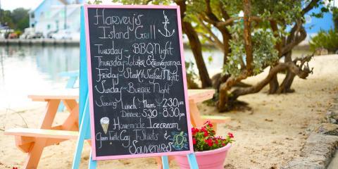 Outdoor restaurant menu