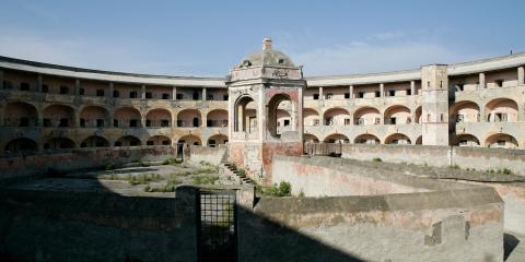 Stone building in Procida, Italy