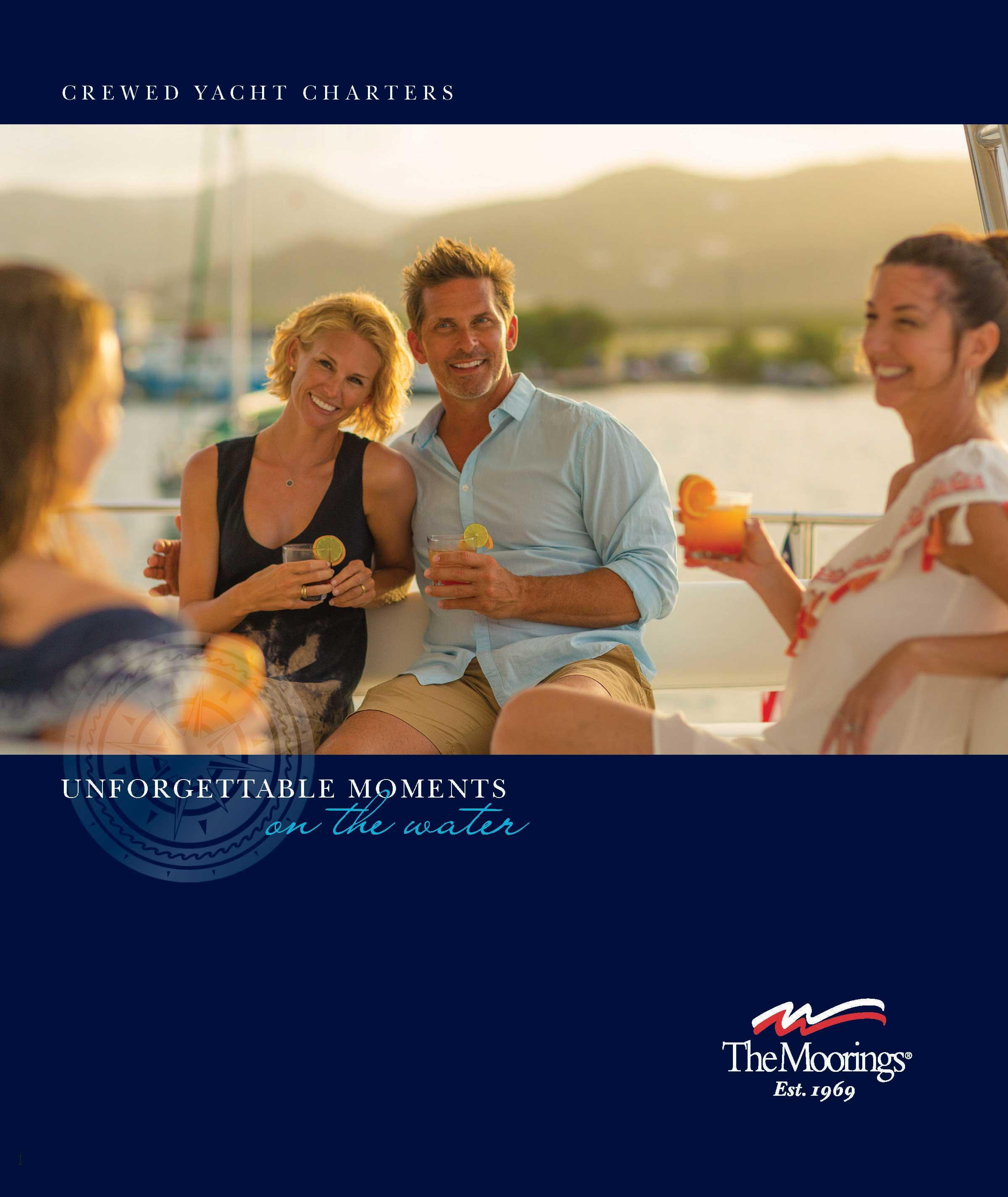 crewed yacht charter brochure
