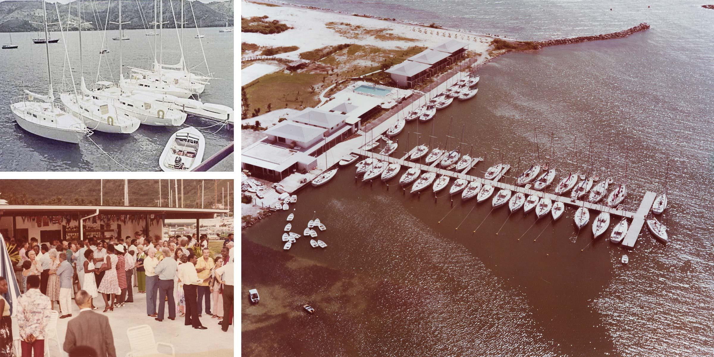 The Moorings BVI base in the 1970s and 80s