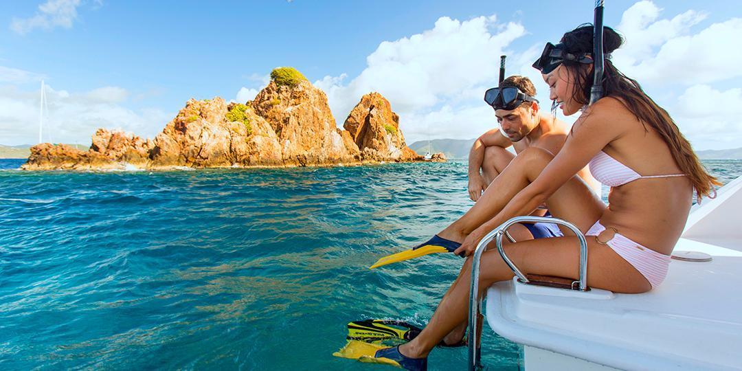 Snorkeling aux Îles Vierges britanniques